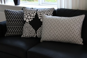Cushions in a grafic design