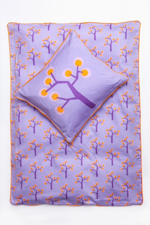 Junior Bedding – Graphic Tree Purple. Organic Cotton Size 100×140 Euro 47