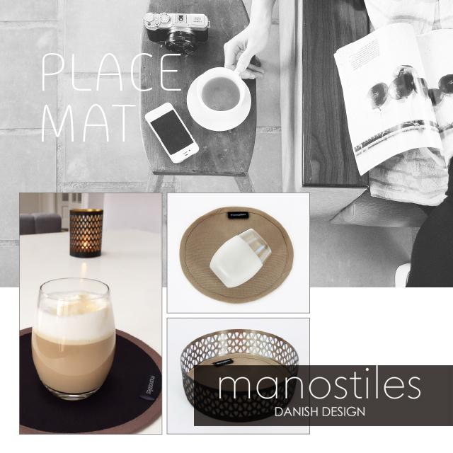 Placemat beautiful round from Manostiles Danish Design