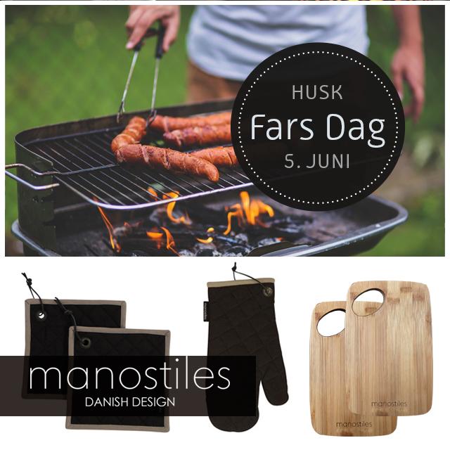 Fars Dag - manostiles forklæder, grillhandsker