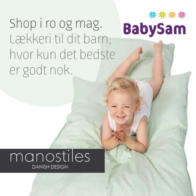 Manostiles i BabySam økologisk bomuldssatin.
