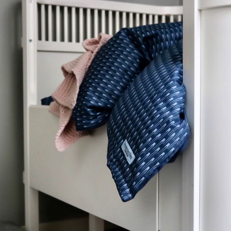 Sengetøj økologisk Manostiles blåt