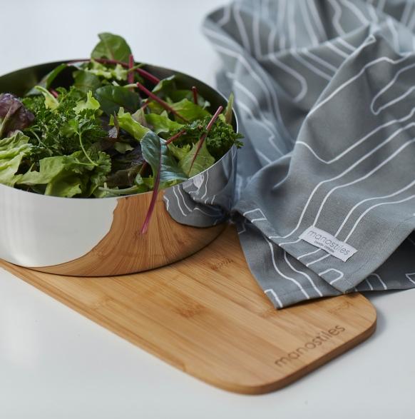 news salatskål og viskestykke